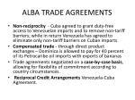 alba trade agreements