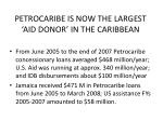 petrocaribe is now the largest aid donor in the caribbean