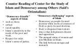 counter reading of center for the study of islam and democracy among others said s orientalism