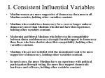 i consistent influential variables