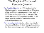 the empirical puzzle and research question
