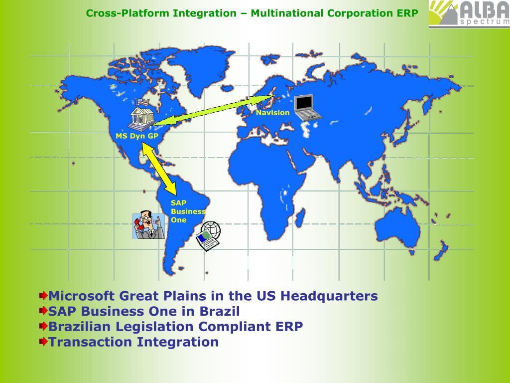 Cross-Platform Integration – Multinational Corporation ERP