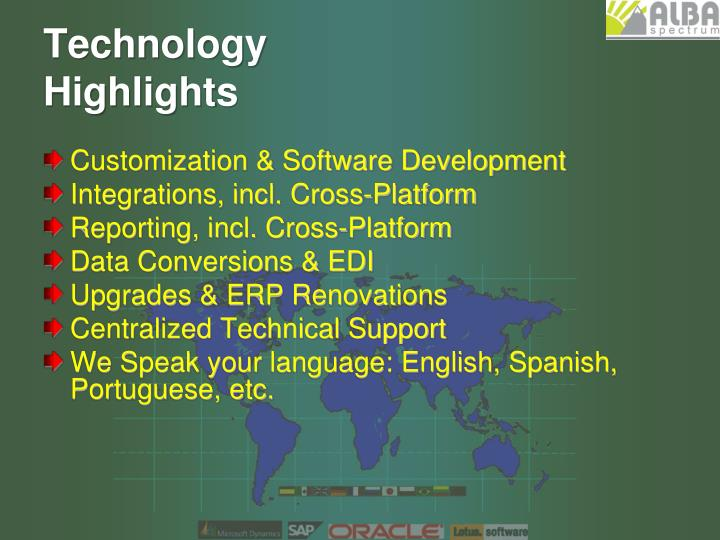 Technology highlights