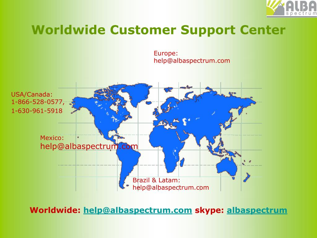 Worldwide Customer Support Center