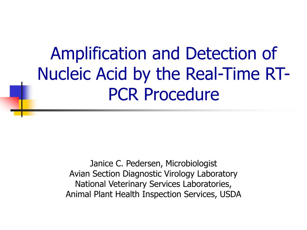 amplification and detection of nucleic acid by the real time rt pcr procedure l.