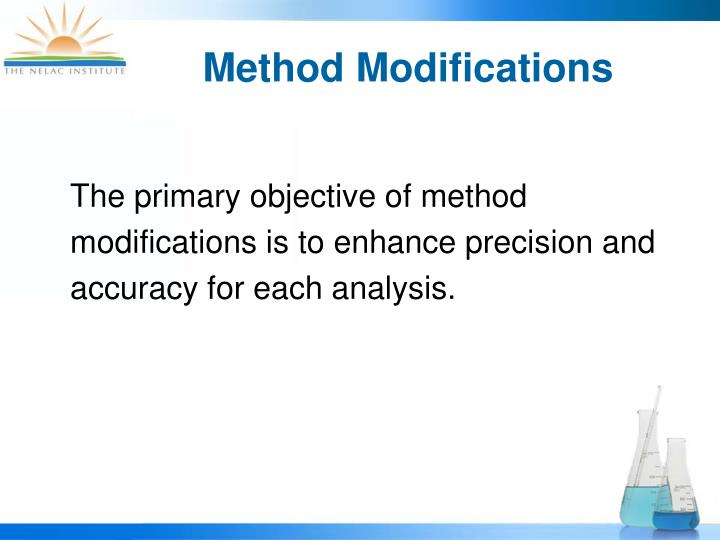 Method modifications3