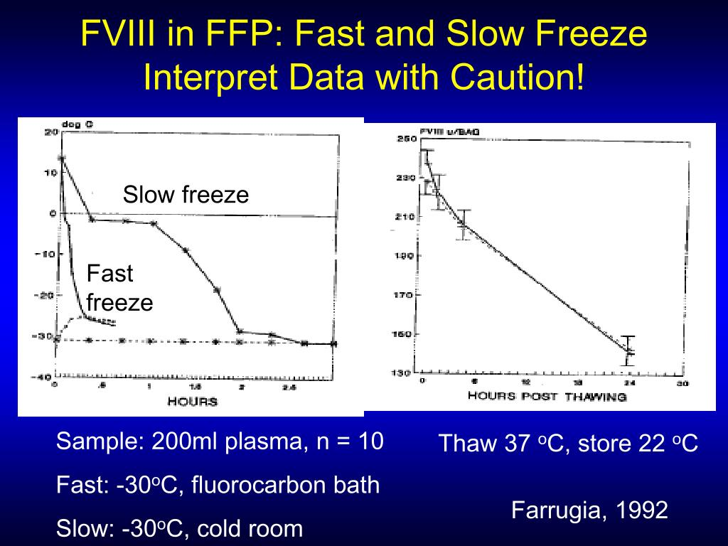 FVIII in FFP: Fast and Slow Freeze