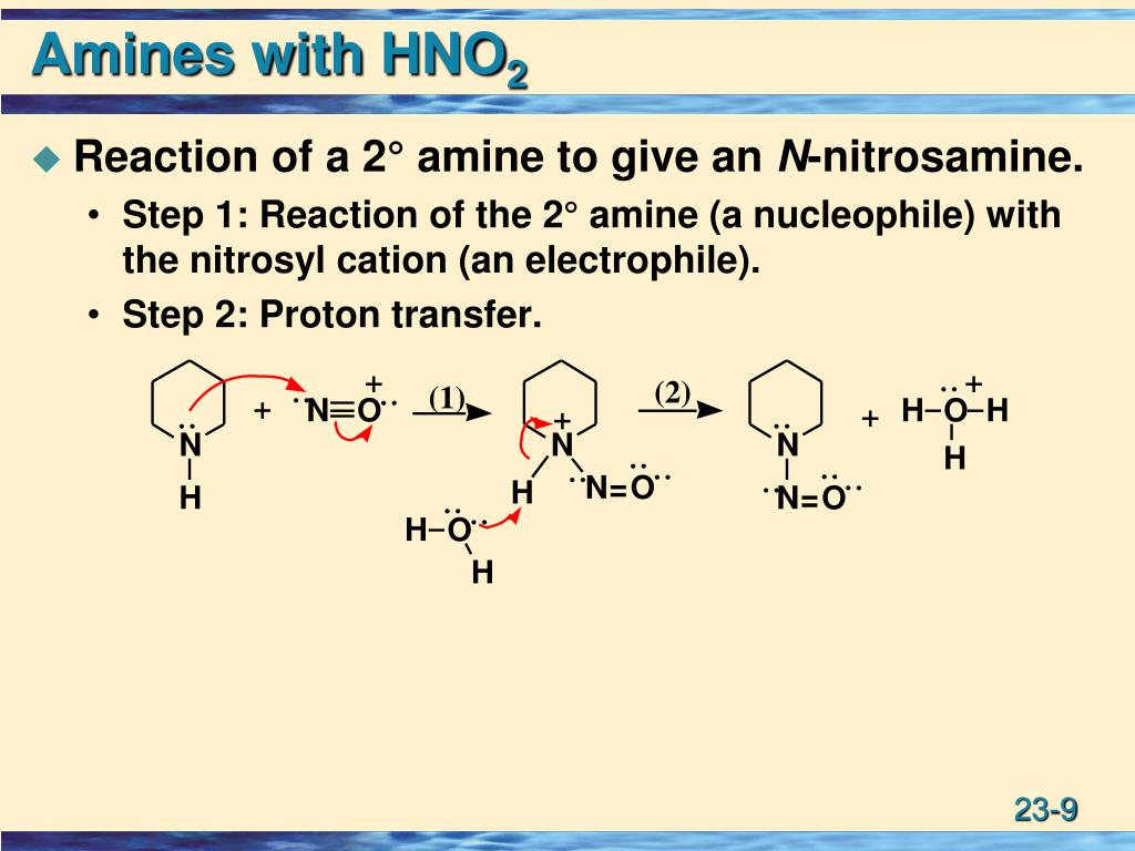 Amines with HNO
