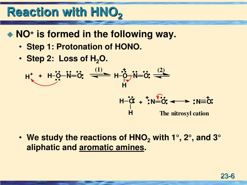 Reaction with HNO