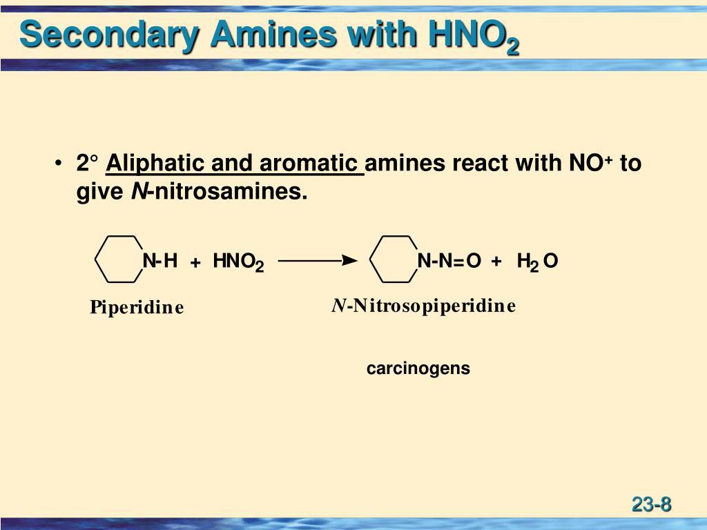 Secondary Amines with HNO