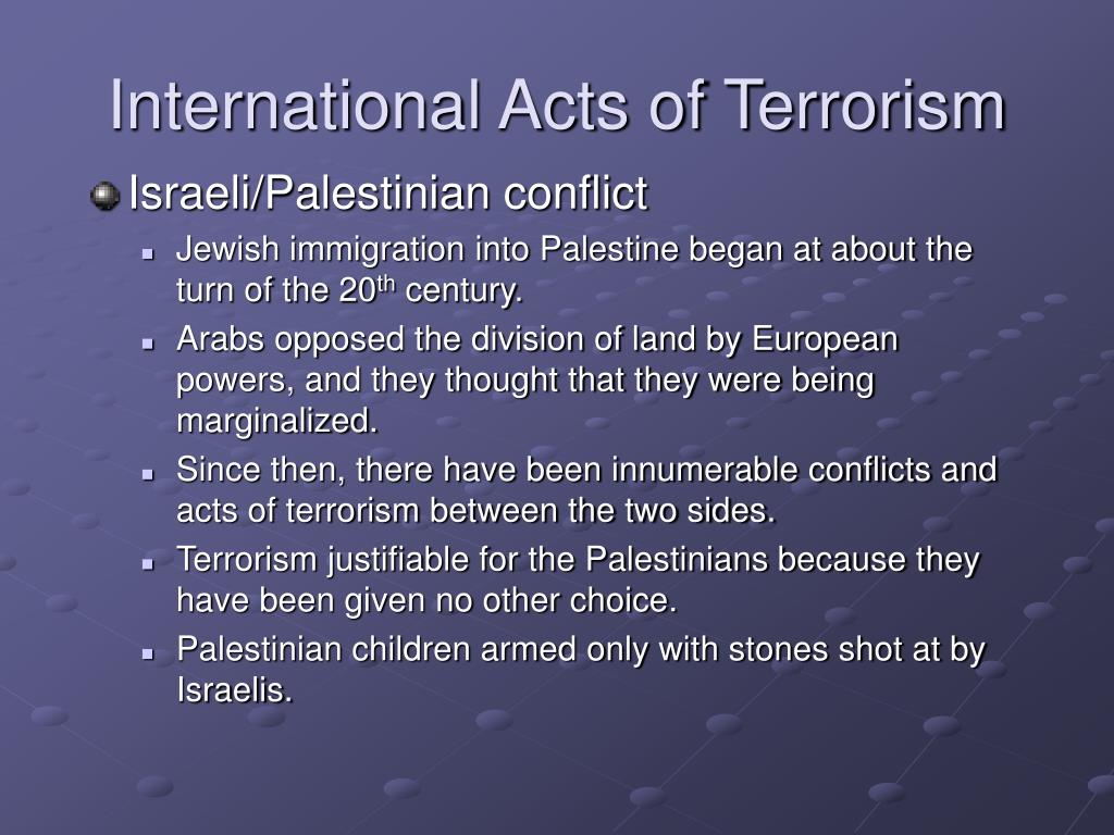 International Acts of Terrorism