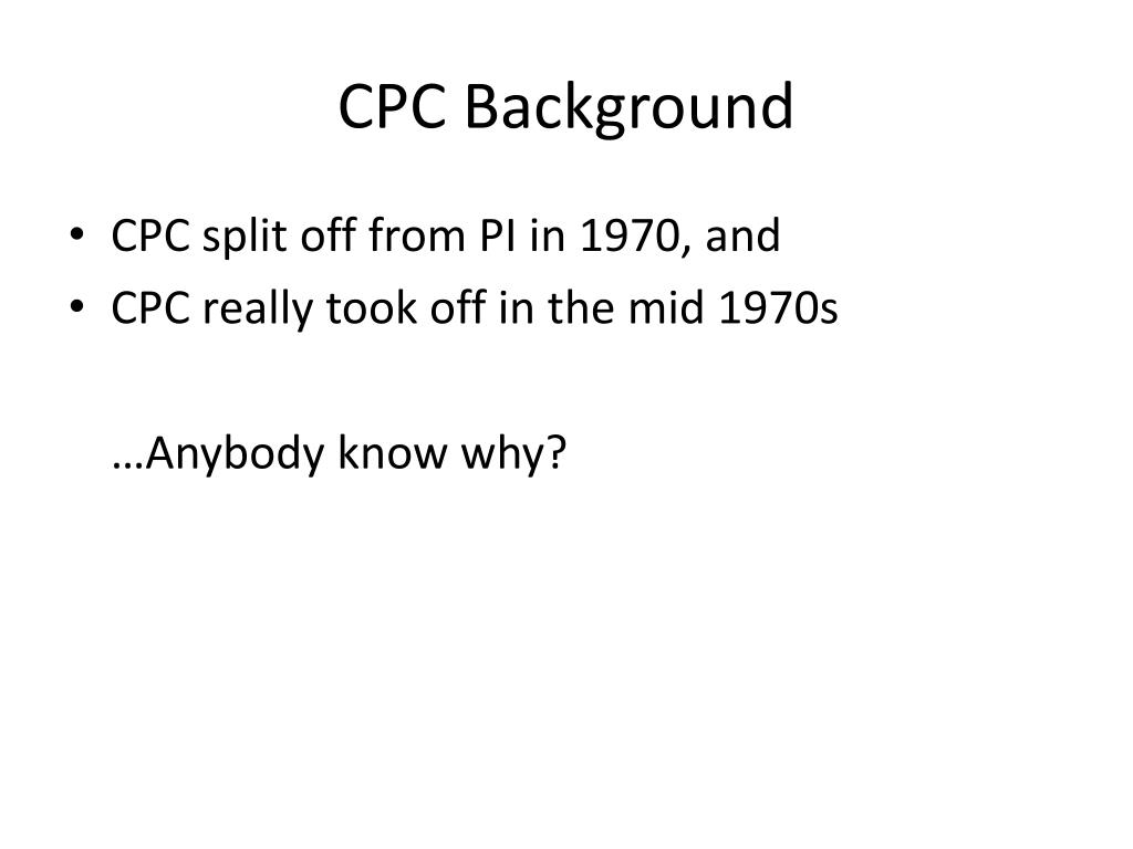 CPC Background