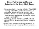 global partnership for mercury reduction in the chlor alkali sector21