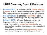 unep governing council decisions