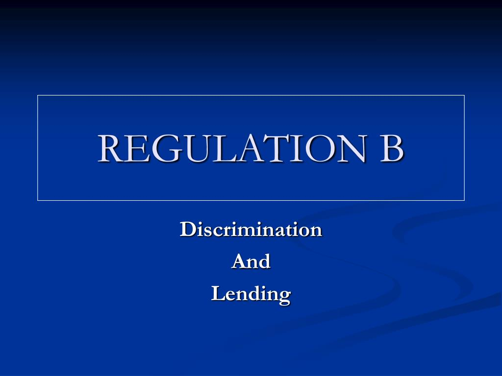 regulation b l.