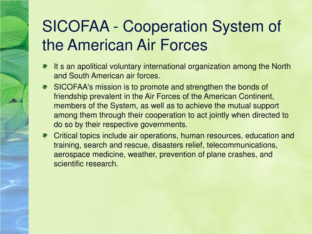 SICOFAA - Cooperation System of the American Air Forces