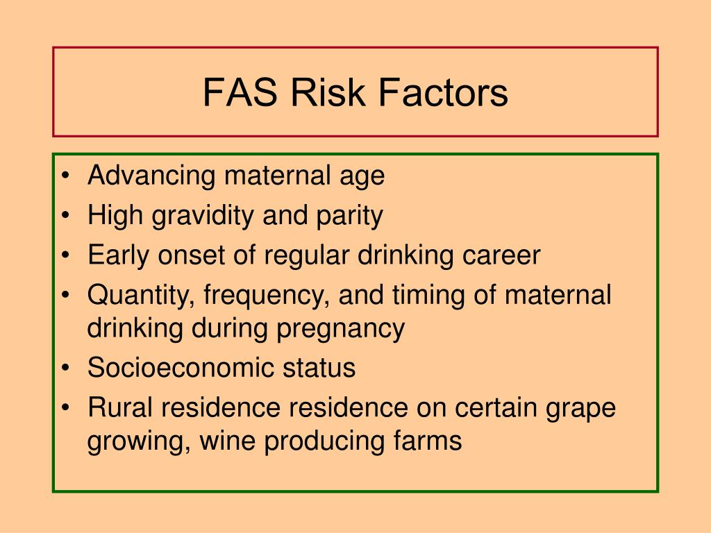 FAS Risk Factors