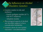 family influences on alcohol use disorders genetics