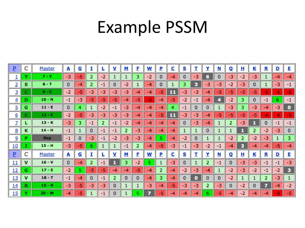 Example PSSM