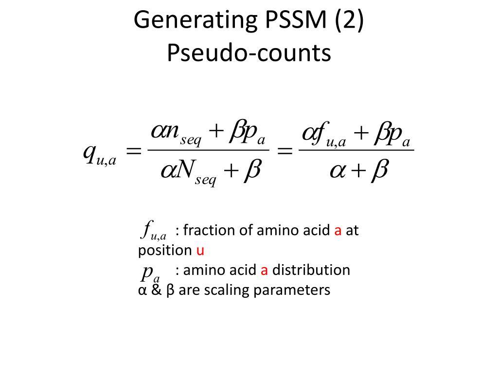 Generating PSSM (2)