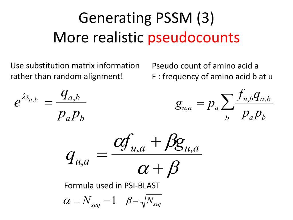 Generating PSSM (3)