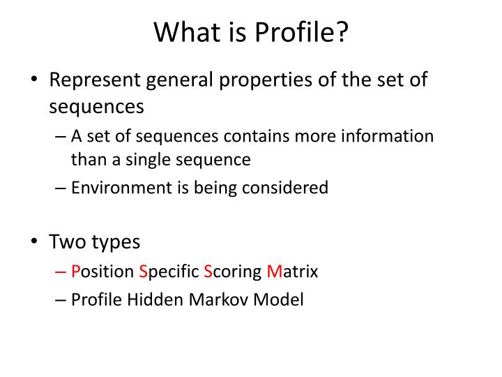 What is profile