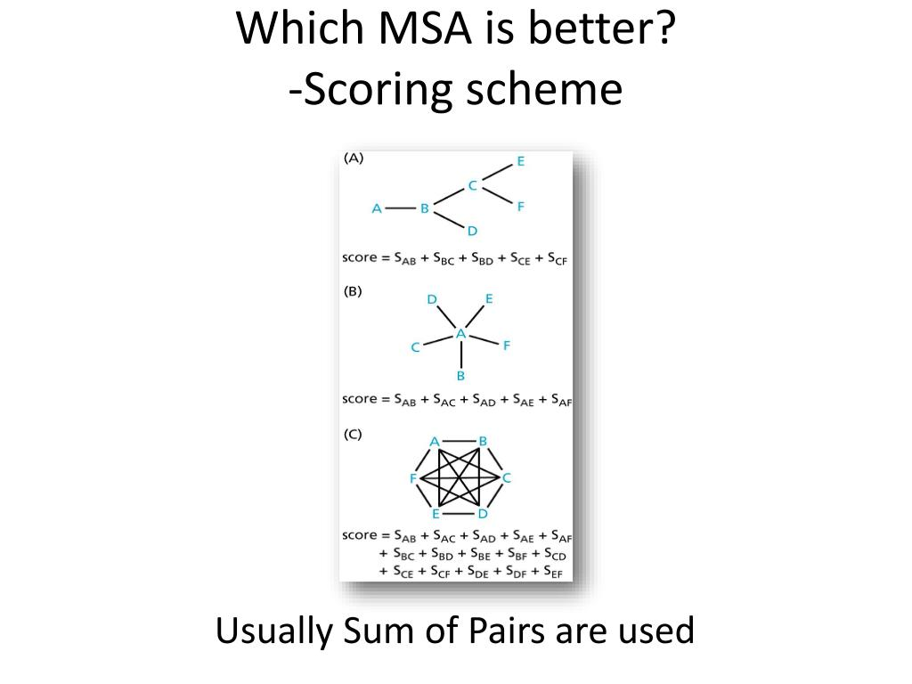 Which MSA is better?
