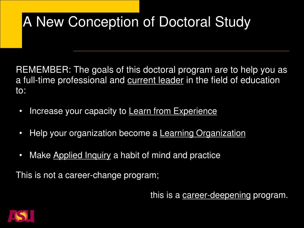 A New Conception of Doctoral Study