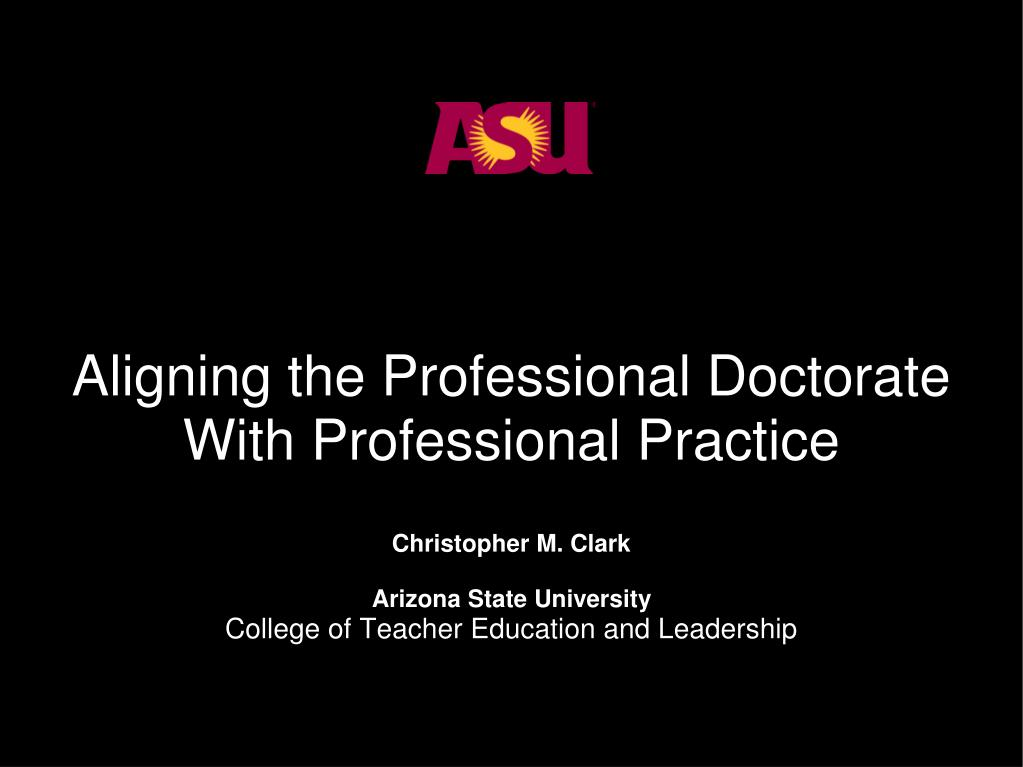 Aligning the Professional Doctorate
