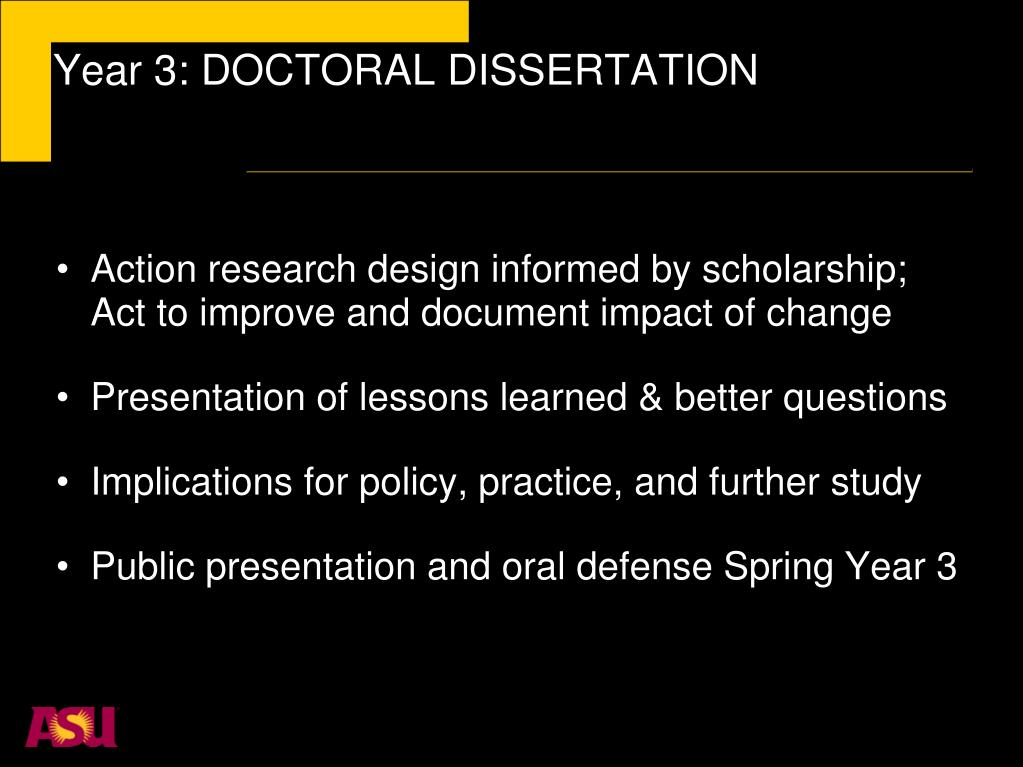 Year 3: DOCTORAL DISSERTATION