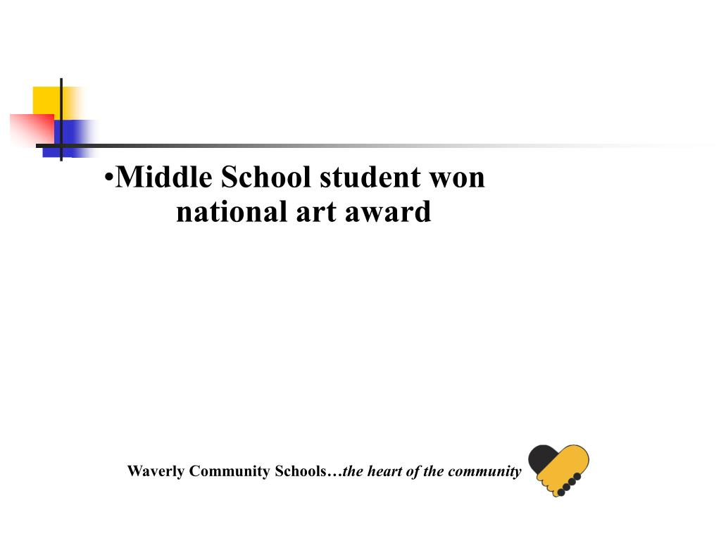 Middle School student won national art award