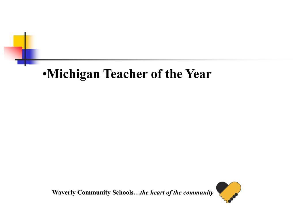 Michigan Teacher of the Year