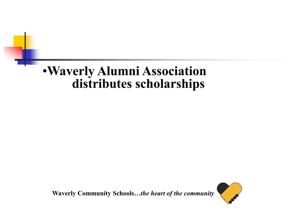 Waverly Alumni Association distributes scholarships
