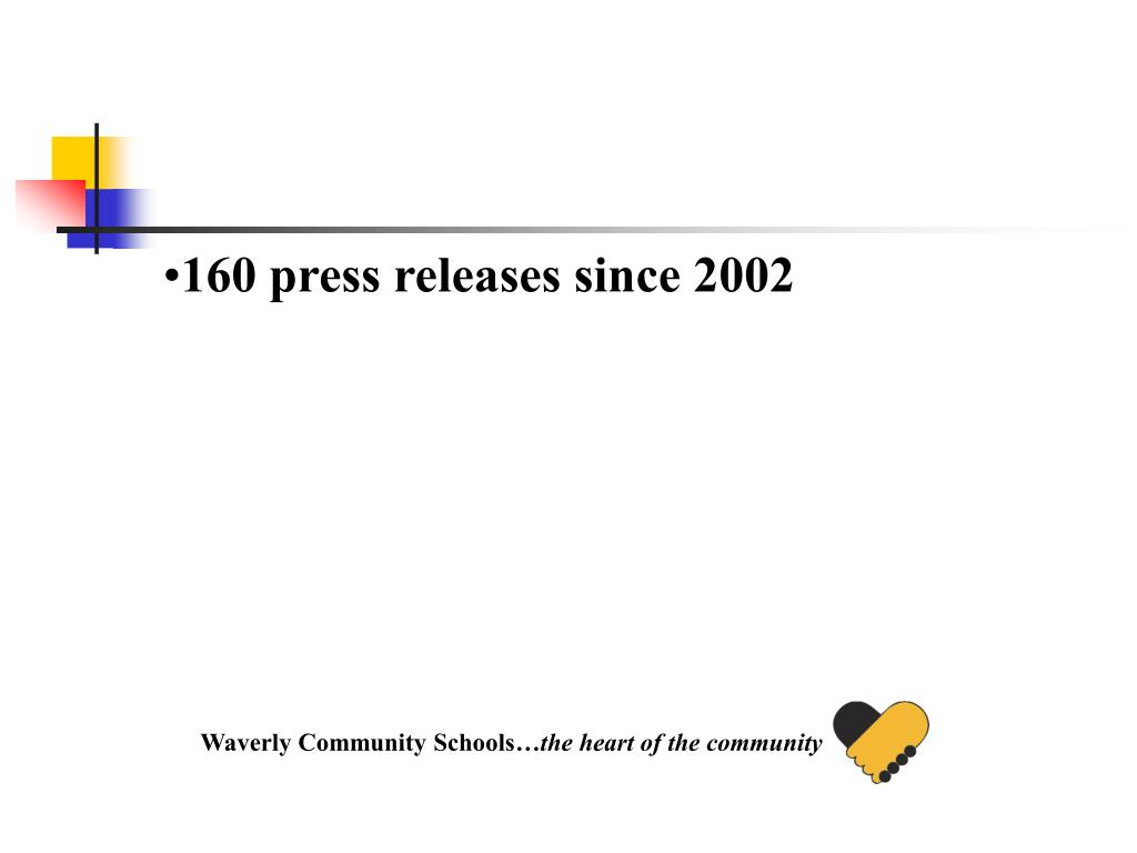 160 press releases since 2002