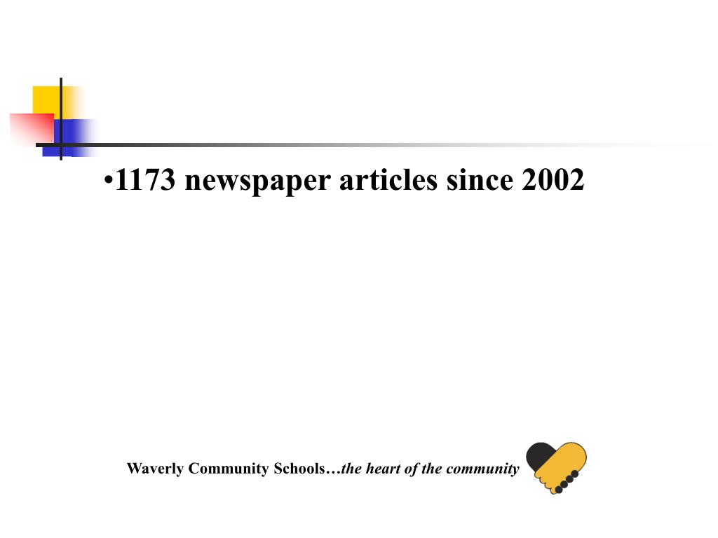 1173 newspaper articles since 2002