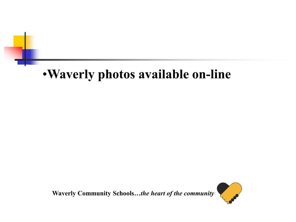 Waverly photos available on-line
