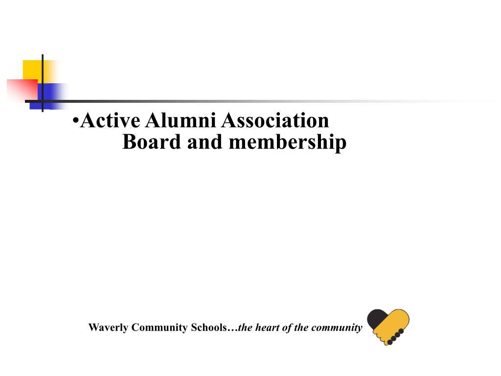 Active Alumni Association Board and membership