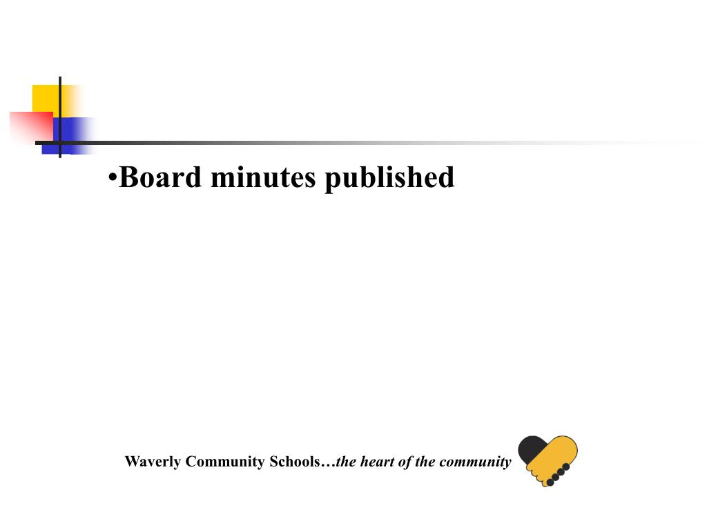 Board minutes published