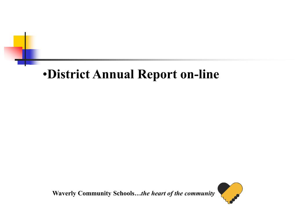 District Annual Report on-line
