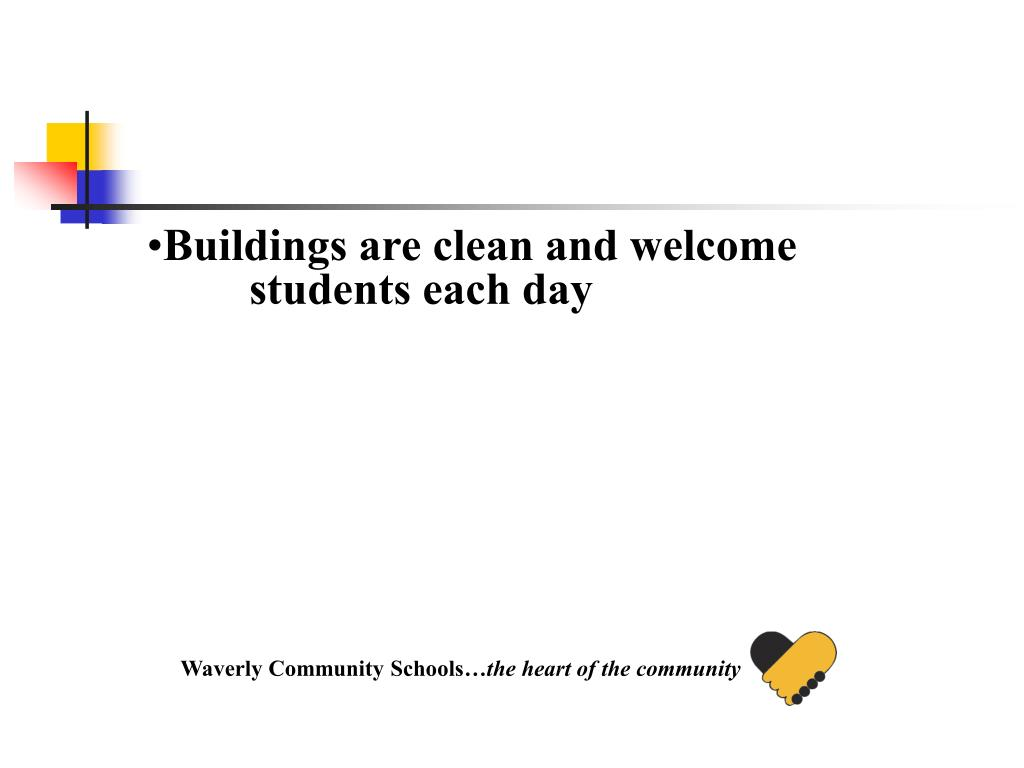 Buildings are clean and welcome students each day