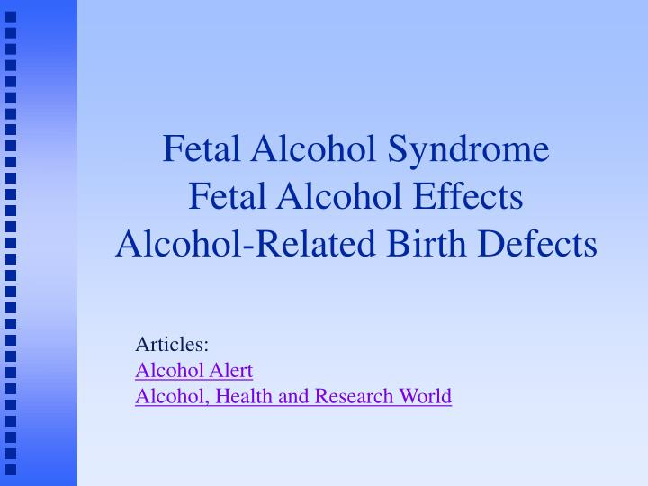 alcohol fetal syndrome thesis