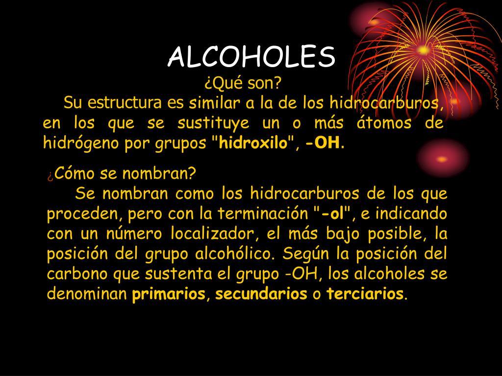 alcoholes l.
