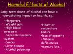 harmful effects of alcohol10