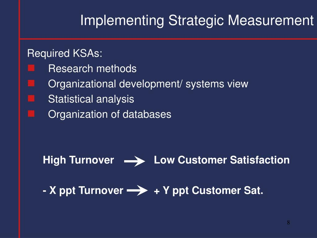 Implementing Strategic Measurement