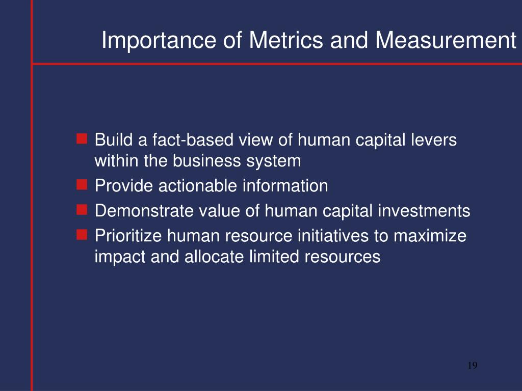 Importance of Metrics and Measurement