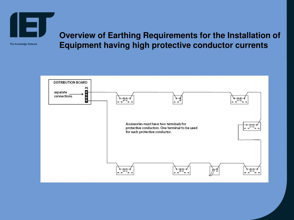 Overview of Earthing Requirements for the Installation of Equipment having high protective conductor currents