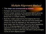 multiple alignment method6