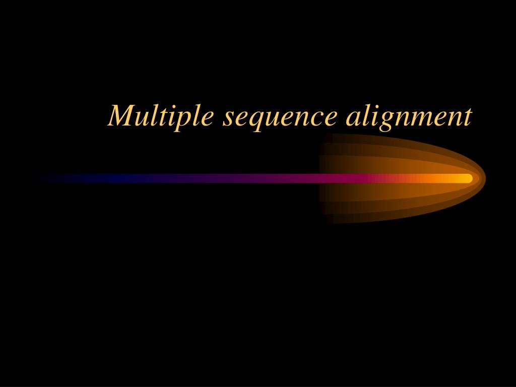 multiple sequence alignment l.