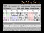 shadybox output