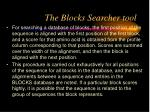 the blocks searcher tool